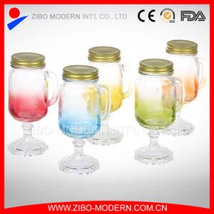 Wholesale Cheap Colorful 10oz Glass Mason Jar with Handle pictures & photos