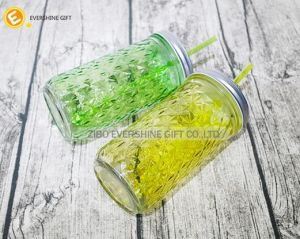 720 Embossed Glass Mason Jar pictures & photos