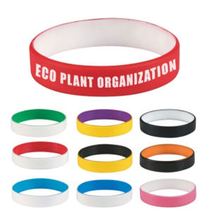 Dual Layer Color Coated Silicone Wristband pictures & photos