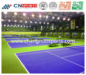 High-Performance Silicon PU Tennis Court Flooring for Sports Field pictures & photos