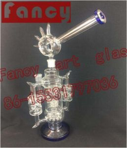 Swiss Tetachable Glass Water Pipe with Recycler Oil Rigs pictures & photos
