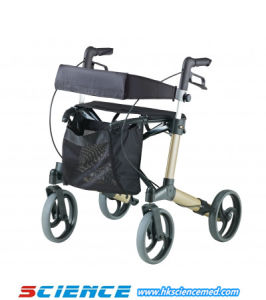 Aluminum Walking Aid Rollator Disabled People Rollator Sc-805A pictures & photos