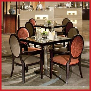 Custom Banyan Tree Wooden Banquet Chair Resort Restaurant Hotel Furniture Set pictures & photos