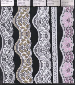 Different Width Stretch Raschel Lace Trim (with oeko-tex certification W70012) pictures & photos