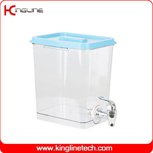 1 Gallon Square Plastic Water Jug Wholesale BPA Free with Spigot (KL-8021) pictures & photos