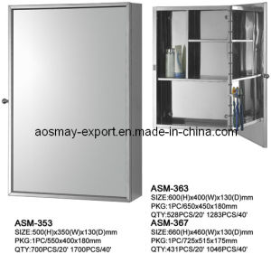 Stainless Steel Mirror Cabinet with One Door (ASM-363)