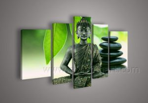 Modern Decorative Painting of Lord Buddha on Canvas (BU-010) pictures & photos