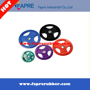 Black and Color Rubber Bumper Plate Grip Olympic Plate pictures & photos