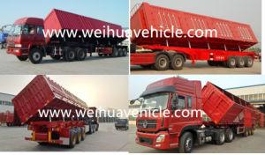 Tri-Axle Side Dump Semi Trailer for Coal or Grain Transport pictures & photos