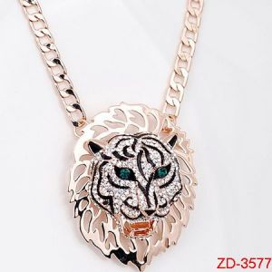 Zd-3577 The Lion Model Diamond Necklace