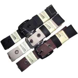 Plain Color Causual Men′s Fabric Belt with Alloy Buckle pictures & photos