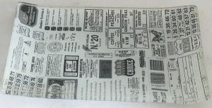 Retro Newspaper Decal Decorative Food Tempered Glass Plate pictures & photos