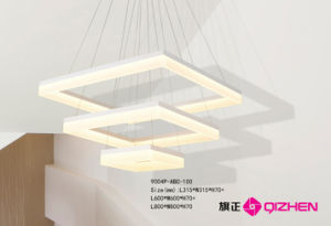 Square Pendant for Hall, Modern Design
