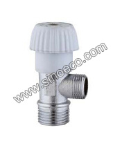 Brass Reduced Angle Valve with Plastic Handle pictures & photos