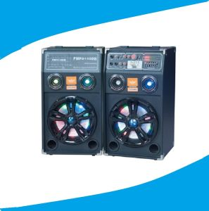 Double 10inch PA Party Speaker Including Remote Colorful Light 630A pictures & photos