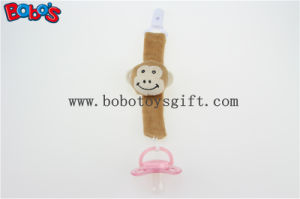 "5.5"" Plush Baby Pacifier Clip Brown Monkey Pacifier Holder Clip Bosw1052 pictures & photos"