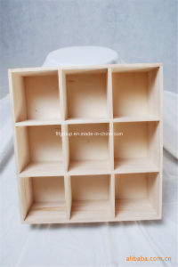 Custom Logo 9 Compartment Solid Wooden Soap Box pictures & photos