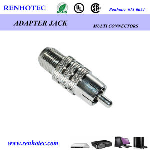 F Female to RCA Male Adapter pictures & photos