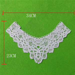 100% White Hand Made Cotton Crochet Lace Collar (cn104) pictures & photos