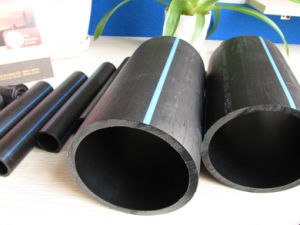 ISO4427 Water Supply 20mm to 630mm HDPE Pipe Black Pipe with PE100 PE80 pictures & photos