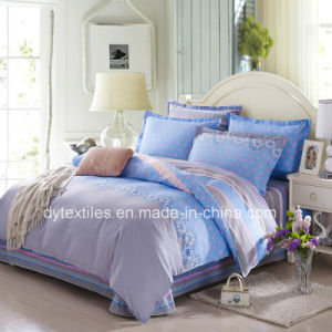 2015 New Design 100 % Cotton Ikea Simple Wedding Bedsheets Set pictures & photos