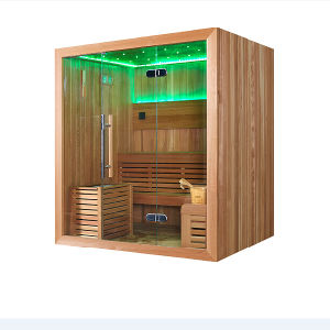 4-6 Person Freestanding Rectangle Wooden Sauna Room (M-6044) pictures & photos