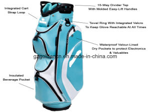 OEM High Quality Custom Polyester Cart Bag Travel Golf Sunday Bag Cover pictures & photos