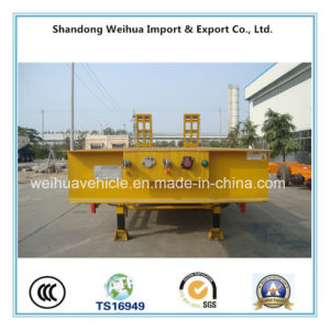 60t Flatbe Trailer Low Bed Semi Trailer From Manufacture pictures & photos