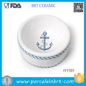 Hot Sale Navy Style Blue Ceramic Pet Bowl Pet Accessories pictures & photos