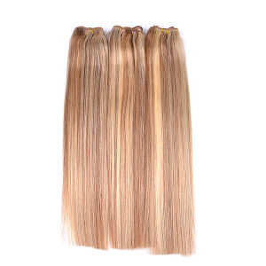 """1PC Remy Hair Weaves Straight 100grams Indian Human Hair Weaving Double Wefted Black Brown Blonde Weft Hair 18"""" 20"""" 22"""" 24"""" pictures & photos"""