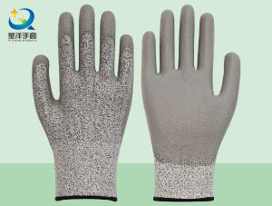 Cut Resistance Resistant PU Coated Safety Glove Level 5 pictures & photos
