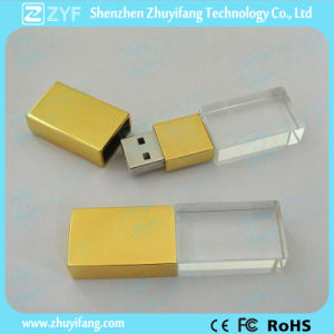 Golden Metal Cap Crystal 8GB Flash Drive (ZYF1512) pictures & photos