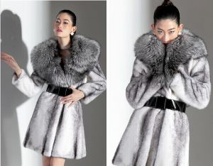2014 New Women Fur Coat Fashion Luxurious Mink Fur Coat Medium-Long Large Fur Collar Overcoat Thick Warm Women Winter Coat pictures & photos