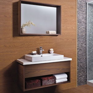 china oppein economy walnut laminate bathroom cabinet with