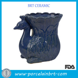 Creative Peacock Ceramic Garden Planter pictures & photos