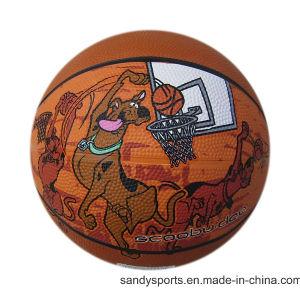 Custom Logo Junior Size Rubber Basketball pictures & photos