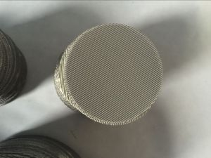 Twin Double Screws Extruder Screen Filter Wire Mesh Discs pictures & photos