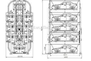 Ce ISO Certification Vertical Rotary Car Parking System