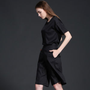 Women Simple Casual Wide Leg Trousers Loose Pants for Wholesale pictures & photos