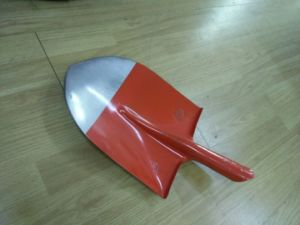 Red Color Steel Shovel with Sharp Point pictures & photos