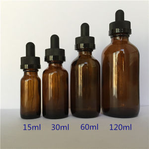 . 5 Oz 1 Oz 2oz 4oz E Liquid Glass Bottles with Childproof Glass Droppers for Sale
