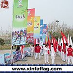 Customized Design Colorful Advertising Road Flag pictures & photos