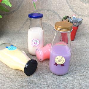 100ml 250ml 500ml Milk Glass Bottles with Tinplate Lid