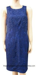 Women′s Woven Lace Dress with Scoop Neck (RTD14068) pictures & photos