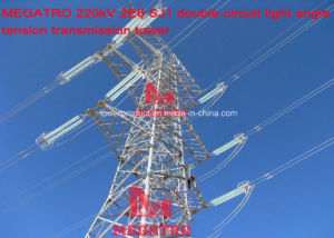 Megatro 220kv 2e6 Sj1 Double Circuit Light Angle Tension Transmission Tower pictures & photos