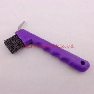 Plastic Hoof Pick with Brush (PY-506)