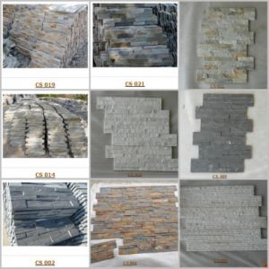 Various Slates and Quartize Stones Veneer / Cultured Stone for Wall Cladding pictures & photos