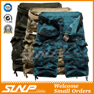 100% Cotton Camouflage Cargo Shorts for Men