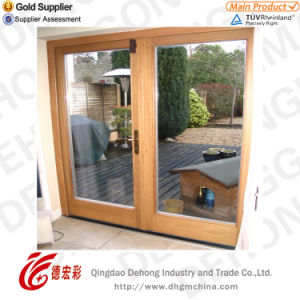 Popular Design Aluminium Door with Tempered Glass pictures & photos