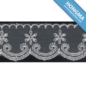 Good Quality Mesh Elegant Organza Lace (1607-0004)